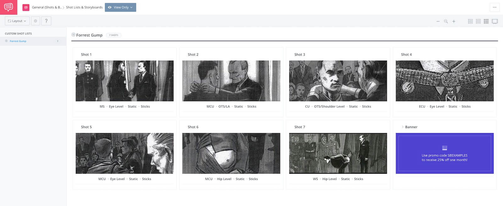 Storyboard Examples - Movie Storyboard - Forrest Gump Storyboard - StudioBinder