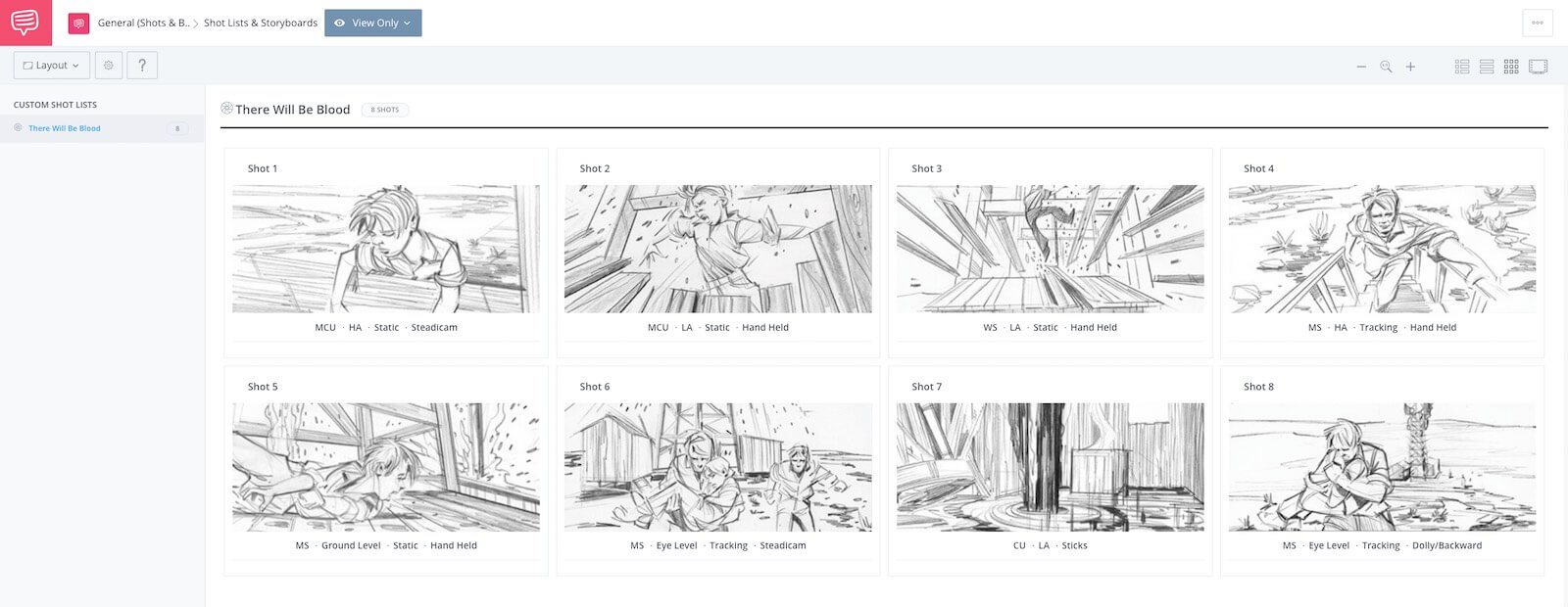 Storyboard Examples - Movie Storyboard - There Will be Blood - StudioBinder