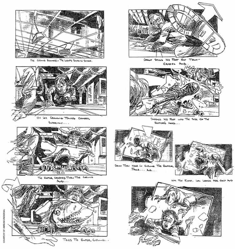 Storyboard Examples - Storyboard Ideas - Film Storyboad Template - Storyboard Format -Jurassic Park Storyboard - StudioBinder