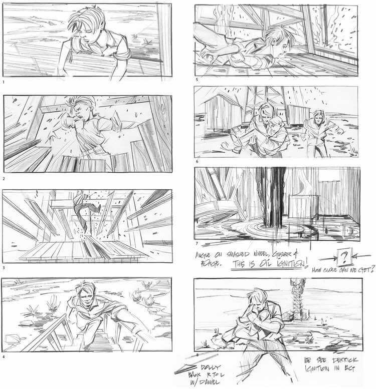 Storyboard Examples - Storyboard Ideas - Film Storyboad Template - Storyboard Format - There Will Be Blood - StudioBinder