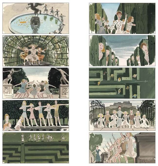 Storyboard Examples for Film - Storyboard Ideas - Maurice Zuberano - Robert Wise - The Sound of Music - StudioBinder