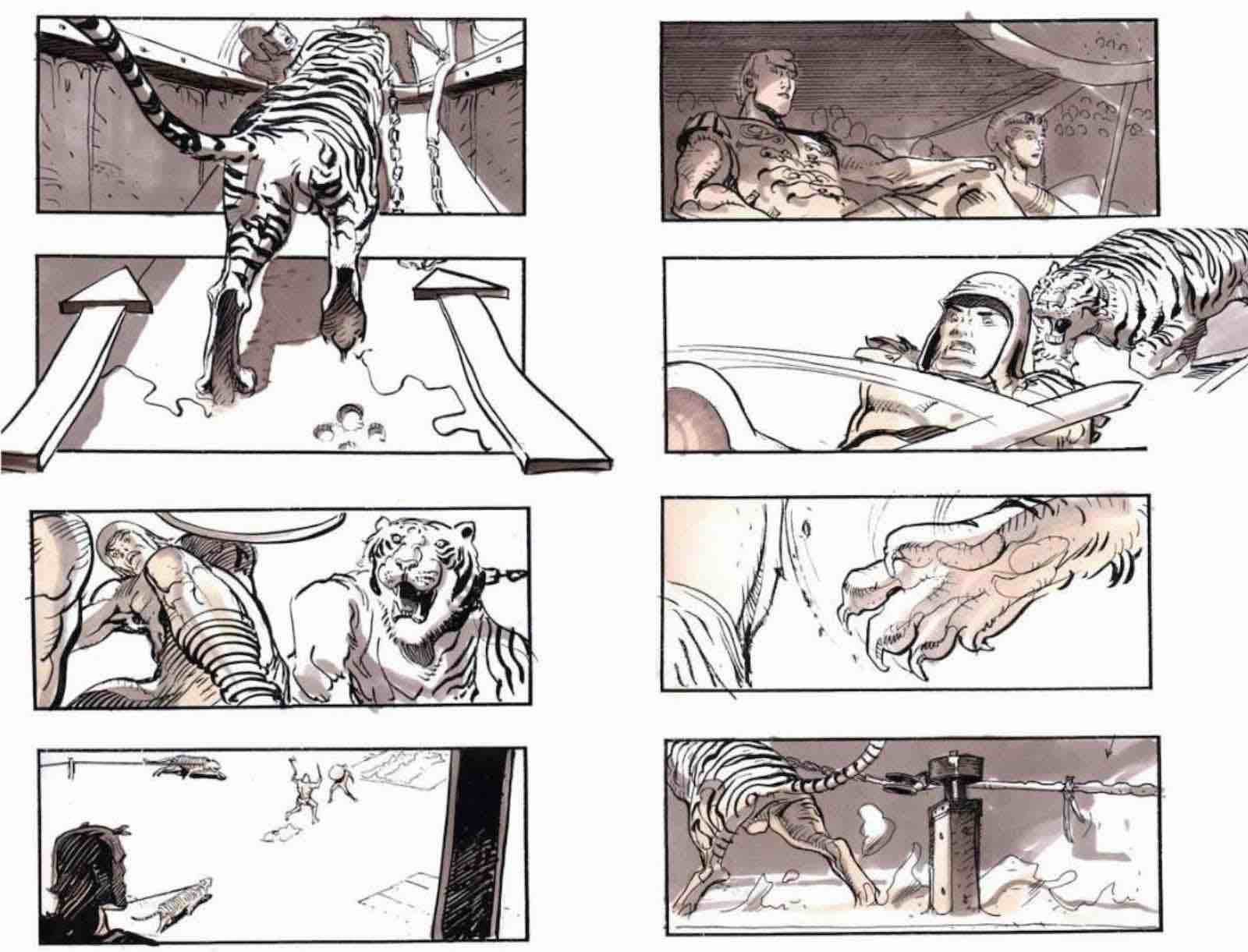 Storyboard Examples for Film - Sylvain Despretz - Ridley Scott - Gladiator - StudioBinder