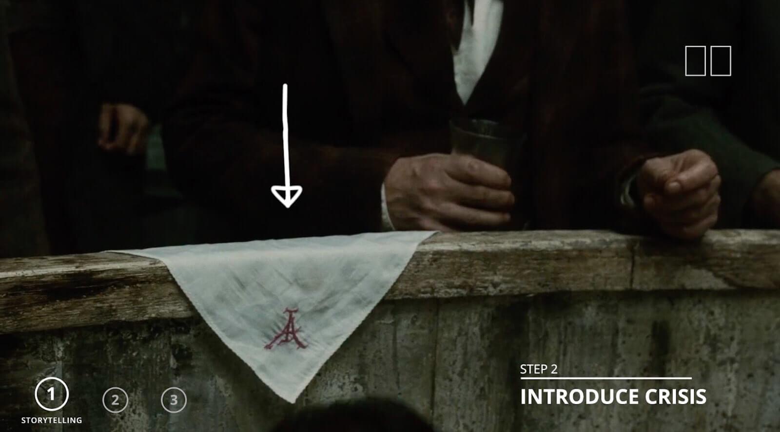 Sherlock Holmes fight scene - Introduce Crisis - Adlers Handkercheif