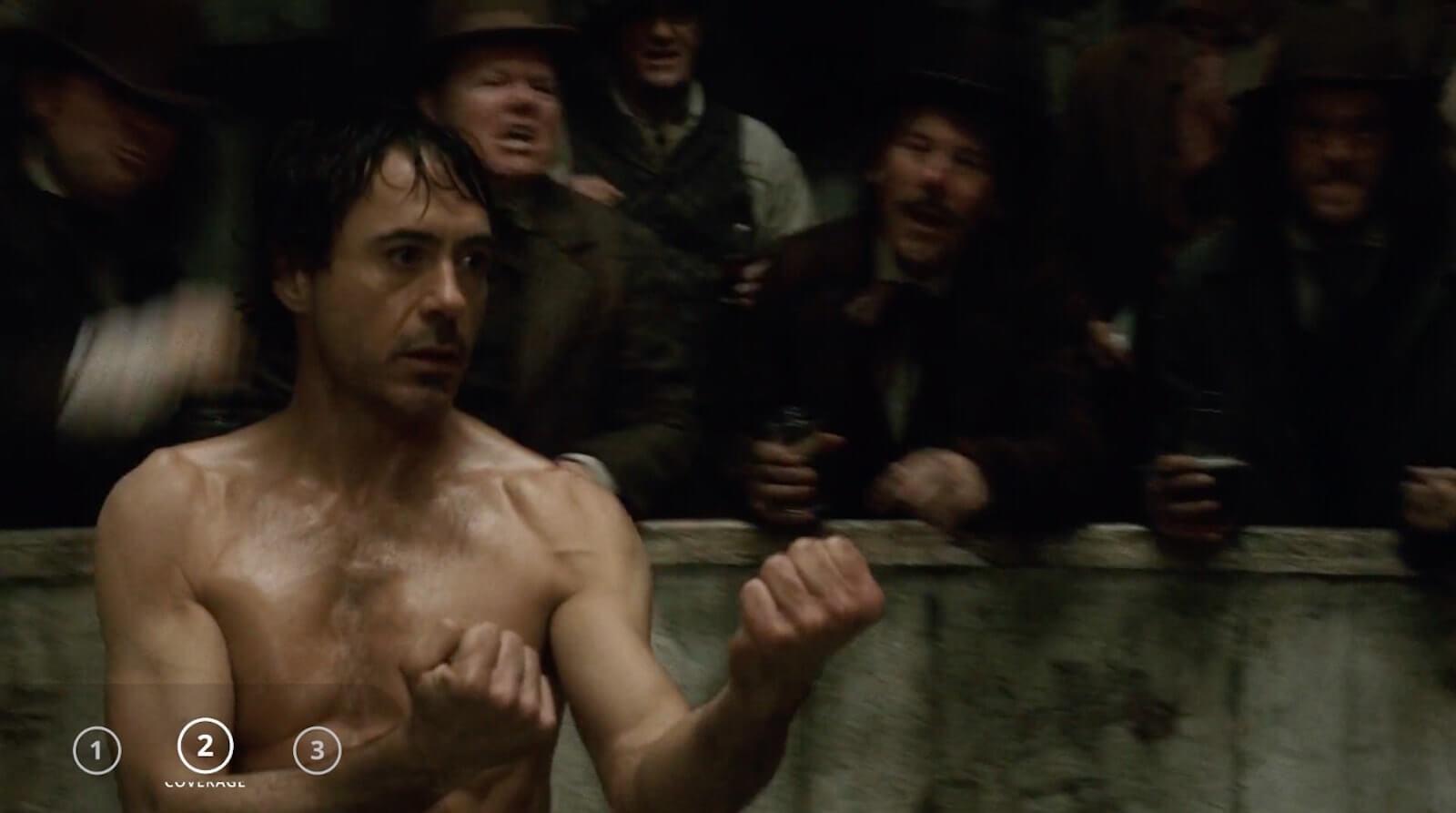 Sherlock Holmes fight scene - Sherlock Holmes coverage