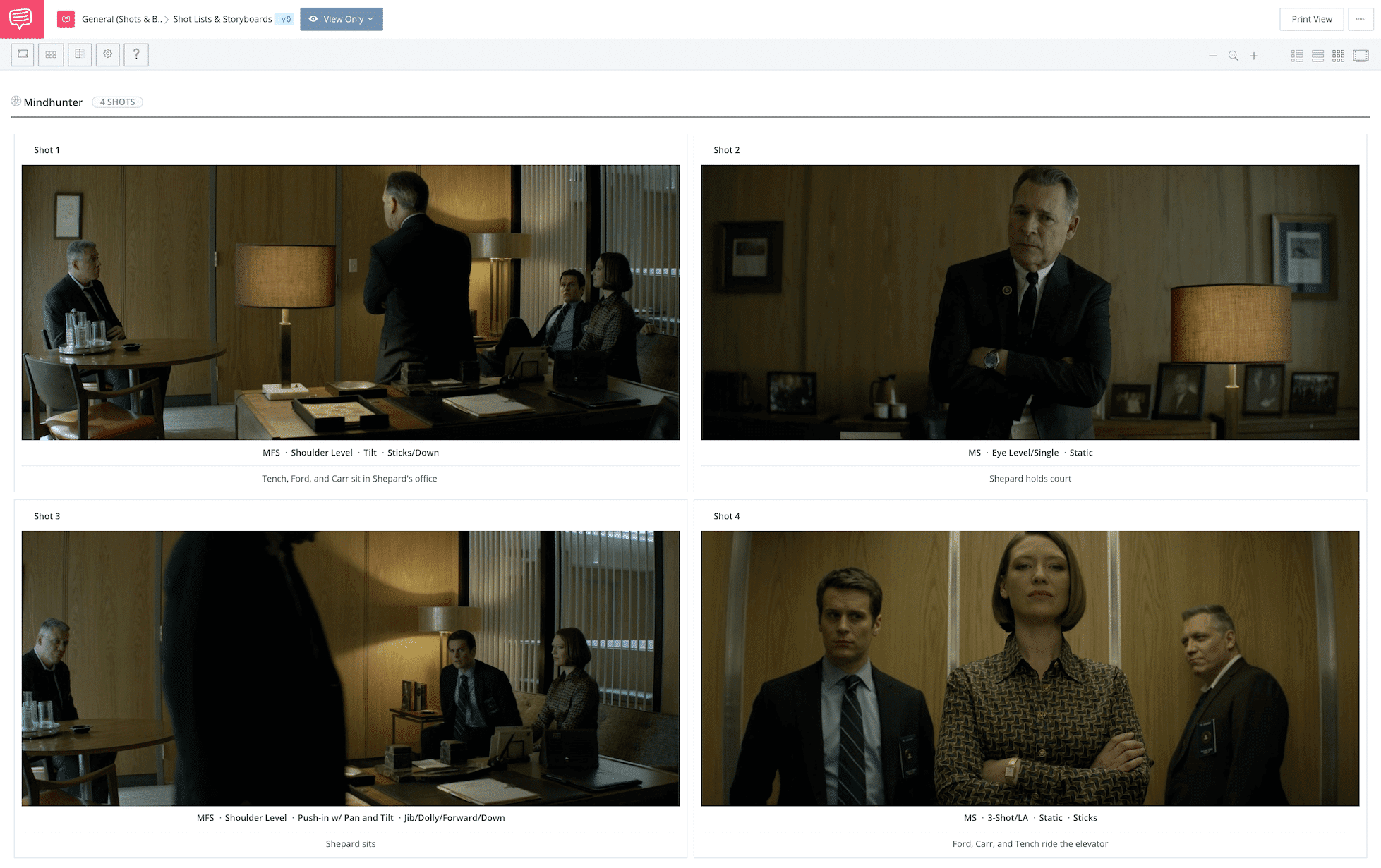 David Fincher Directing Style StudioBinder Shot List Software