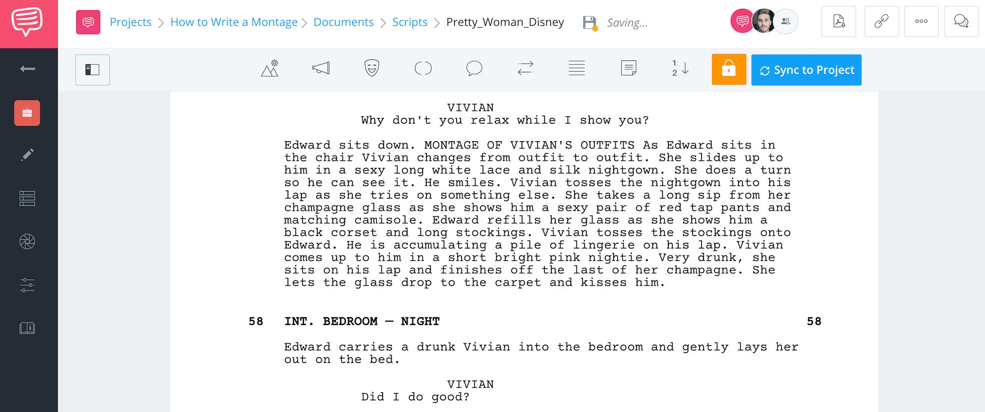 How to Write a Montage Pretty Women Example Original Script StudioBinder