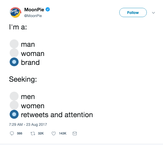Social Media Advertising Moonpie