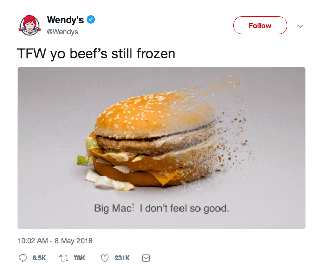 Social Media Advertising Wendys