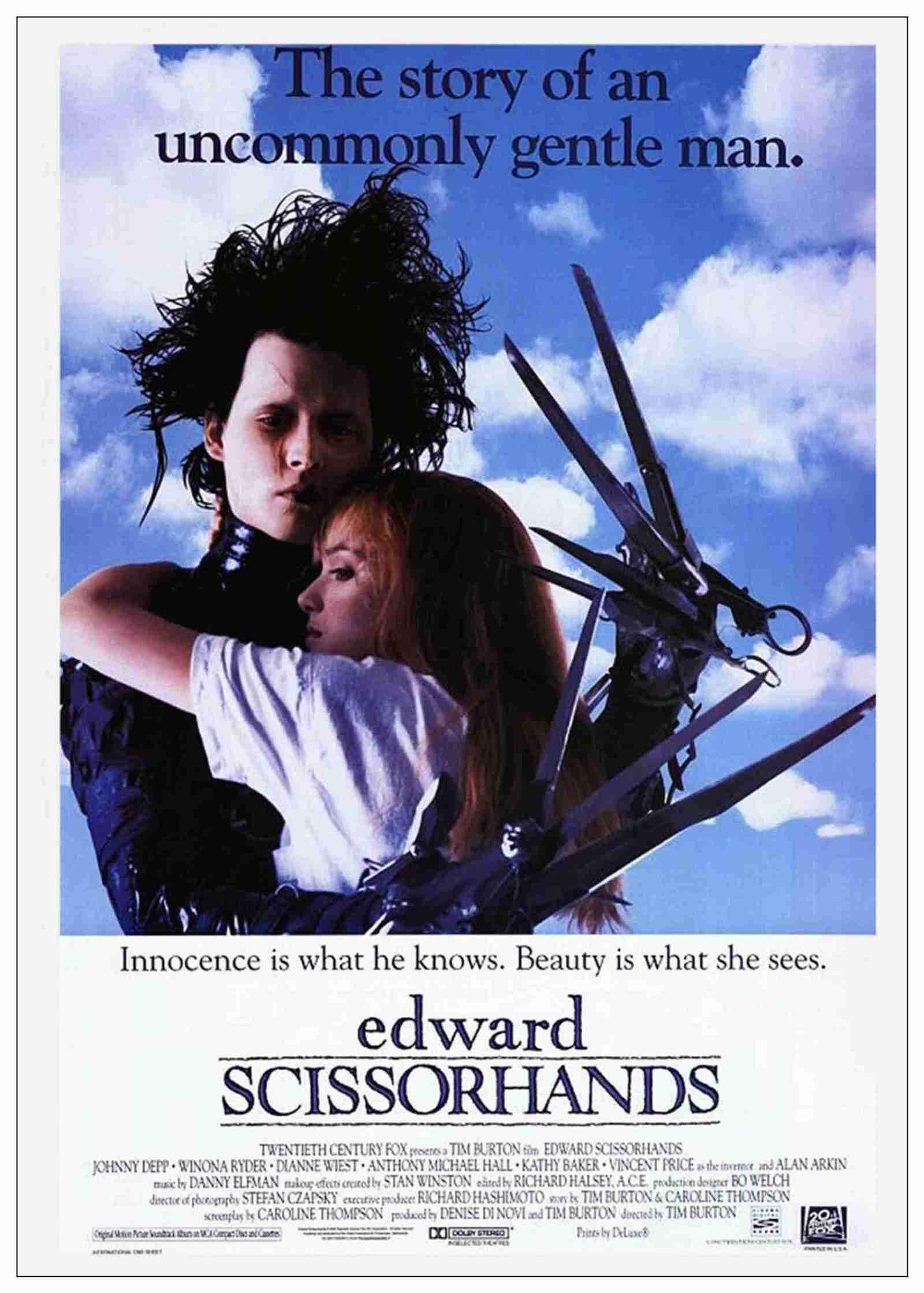 best movie taglines edward scissorhands