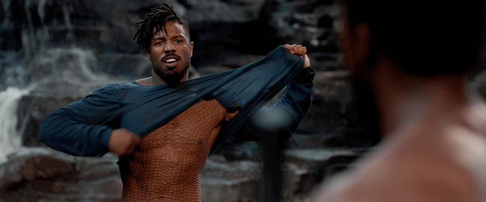 Black Panther Fight Scene Kilmonger Scars
