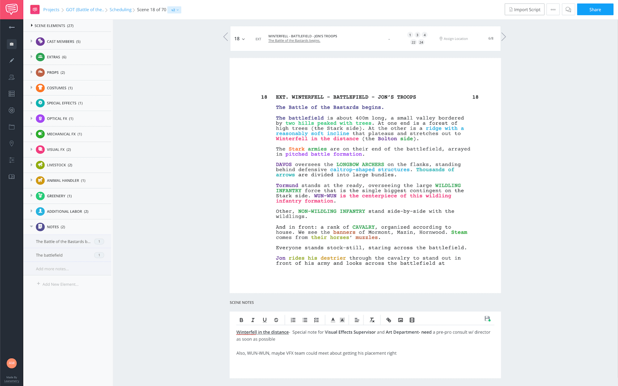 Hidden Elements Script Breakdown Battle of the Bastards