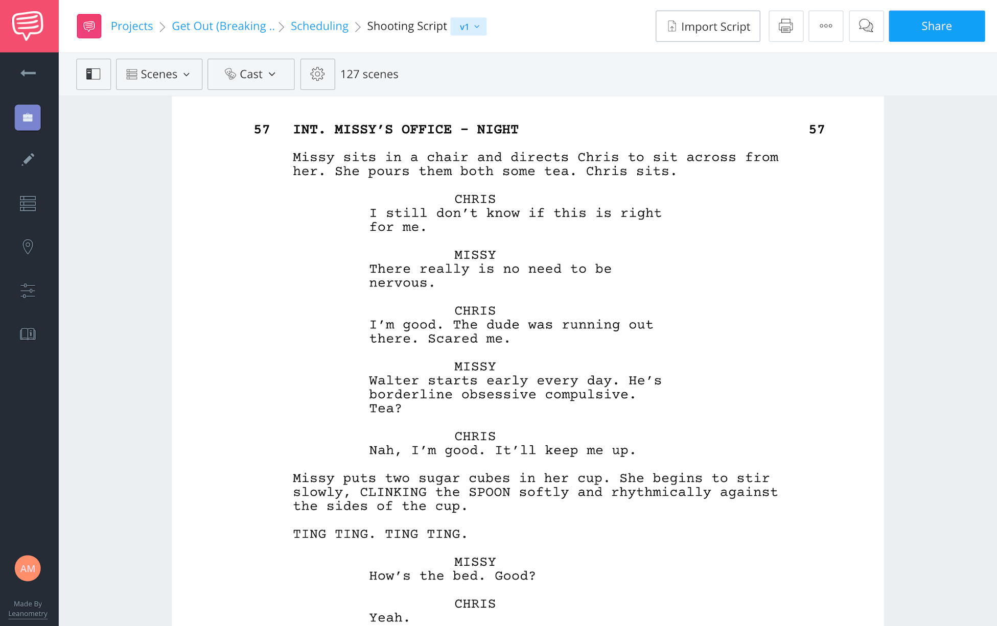 How to Break Down Scene Sunken Place Scene Script