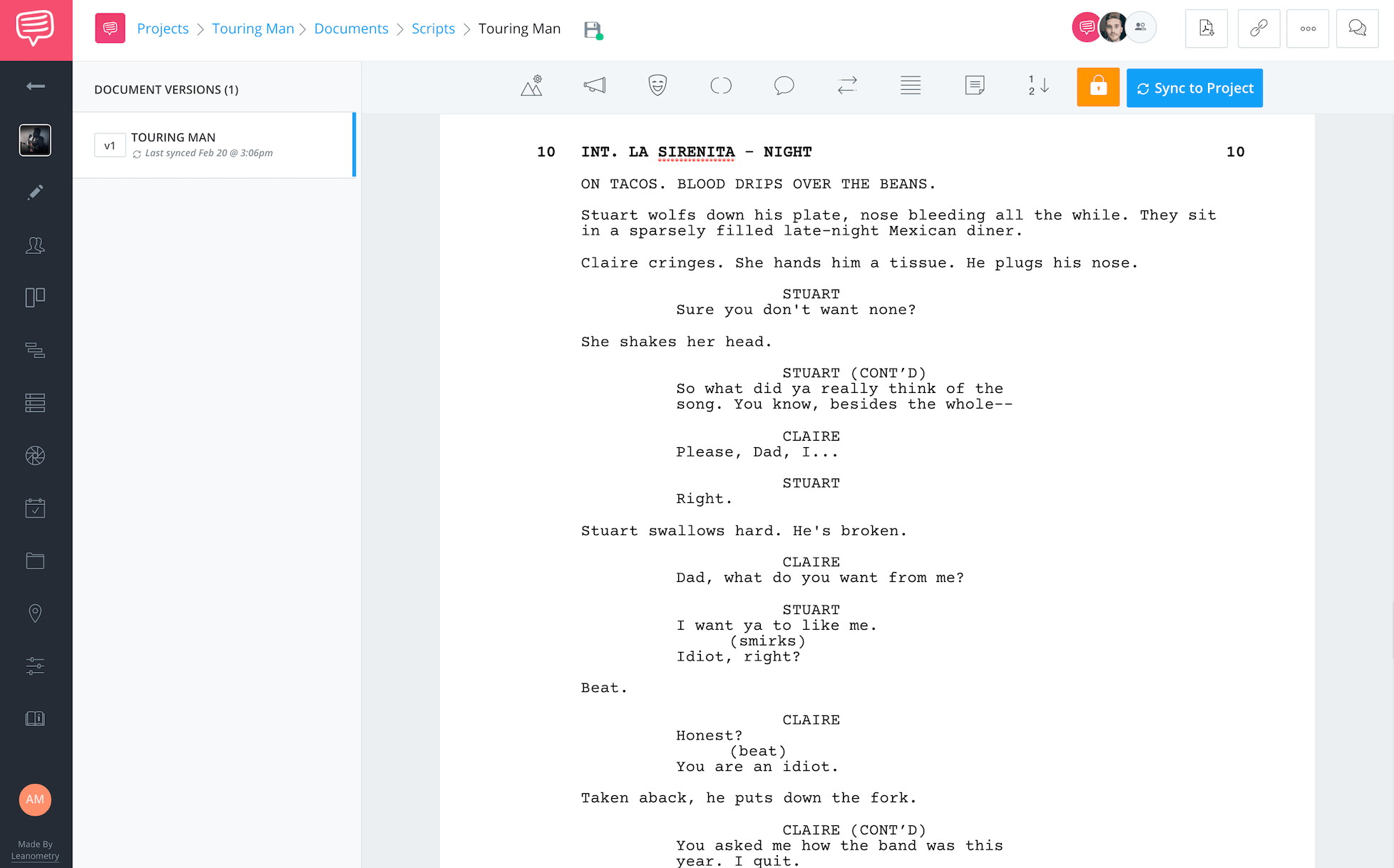 Larry Jordan Post Production Workflow Script Example