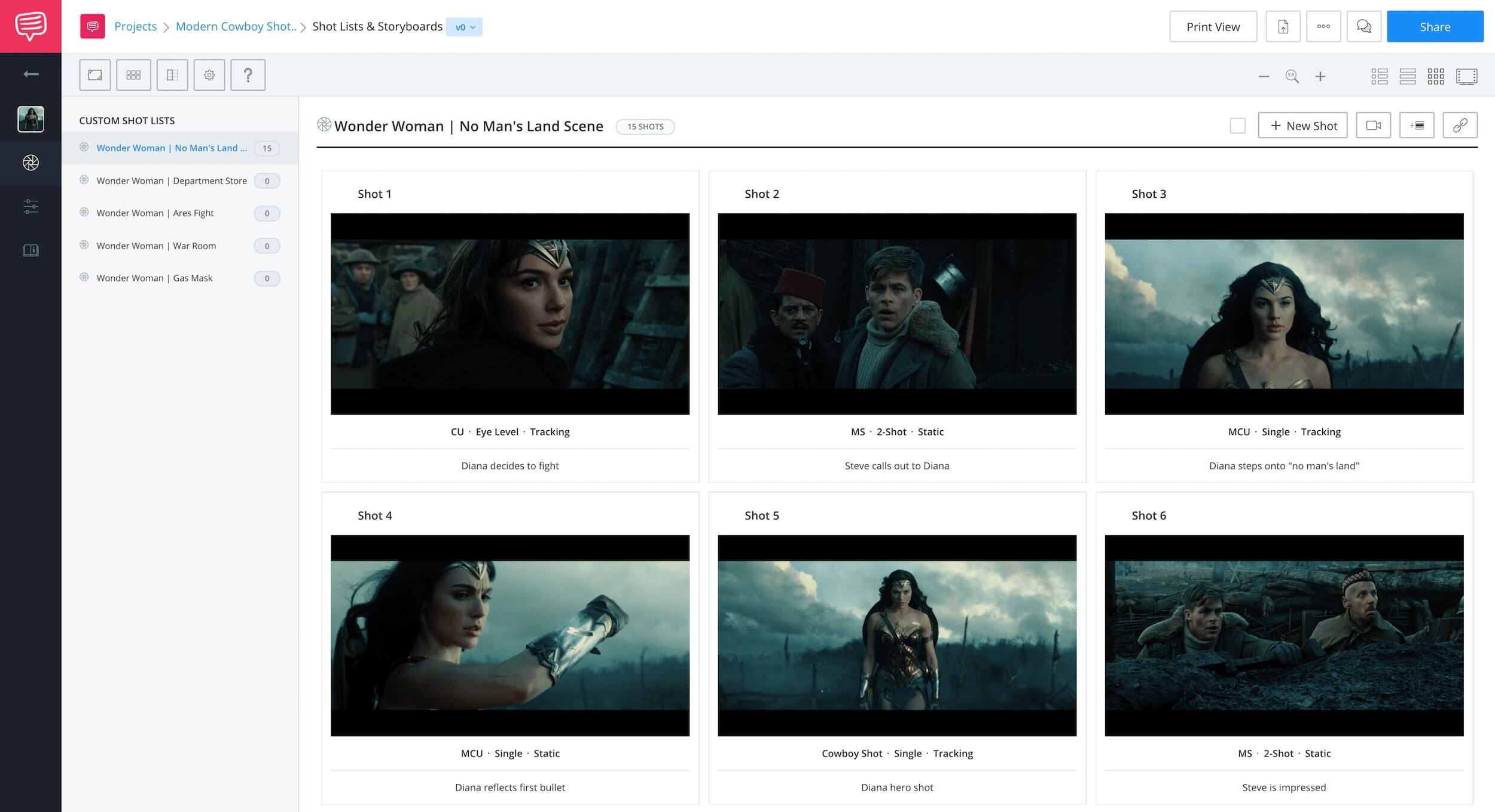 StudioBinder Storyboard Software for Film TV Animation and Video