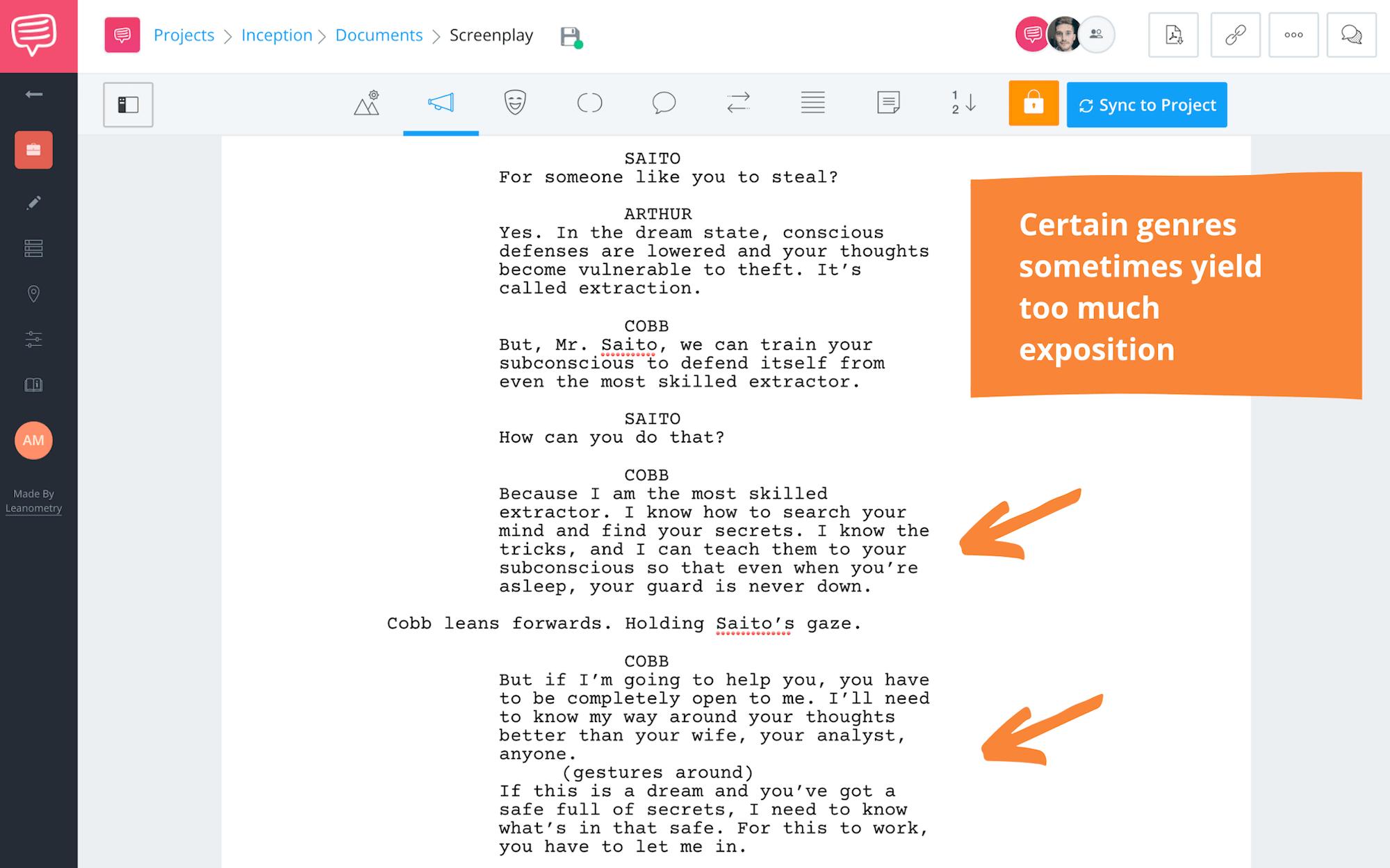 Writing Exposition Cobb Explains