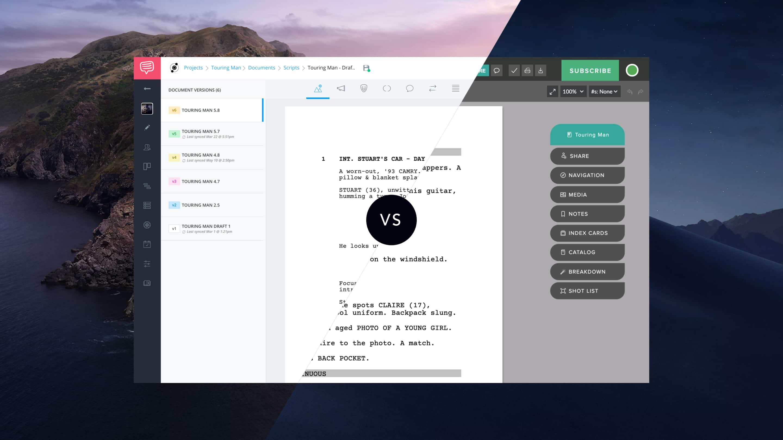 The Best Alternative to Celtx Screenwriting Software? Meet
