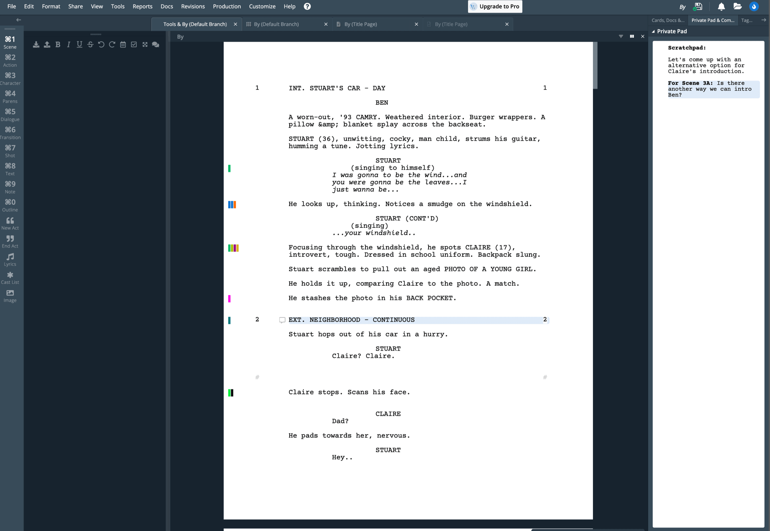 Best Alternative to WriterDuet Scriptnotes - Meet StudioBinder's Free Scriptwriting Software
