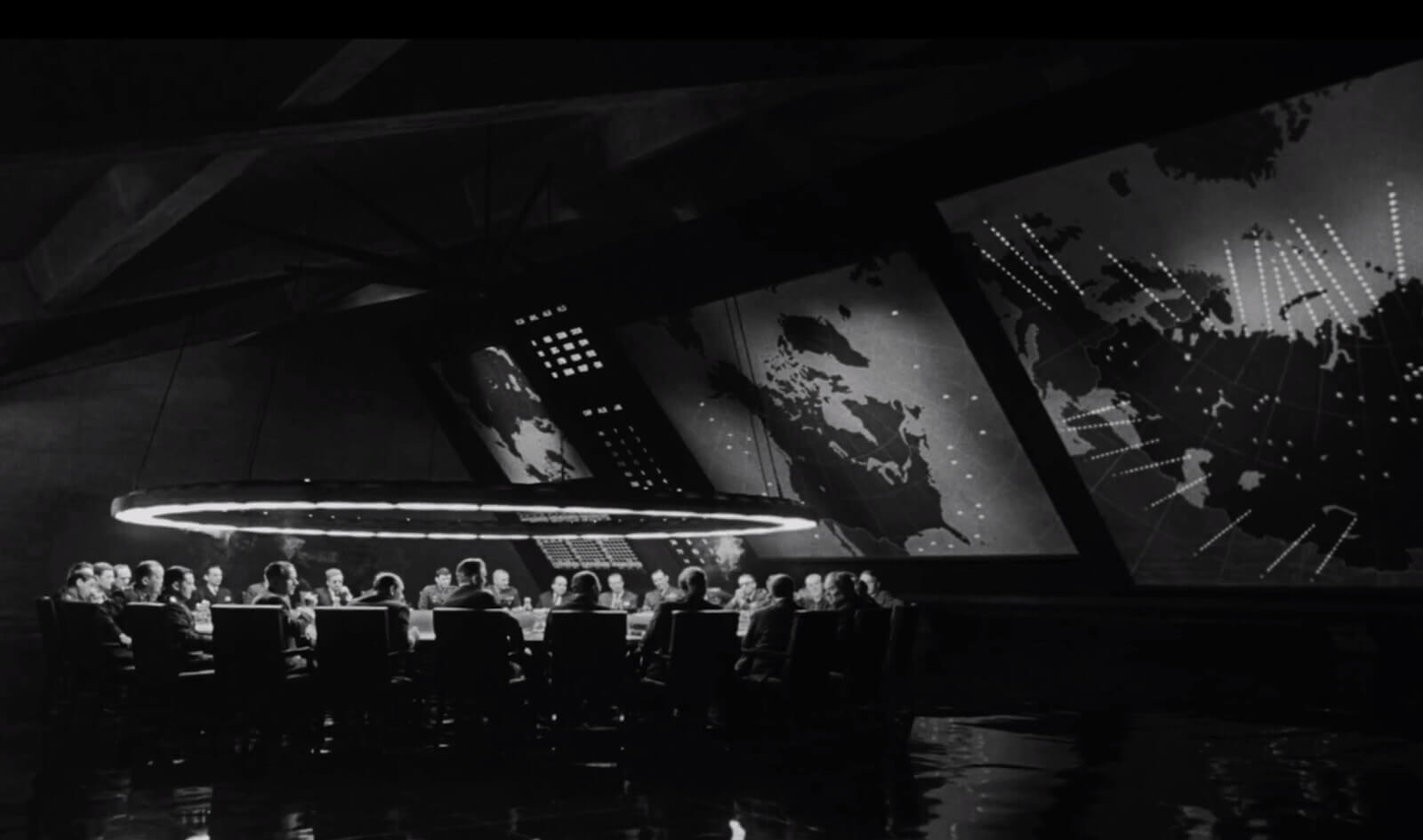 Best Stanley Kubrick Movies - Kubrick Set Design - Dr Strangelove War Room