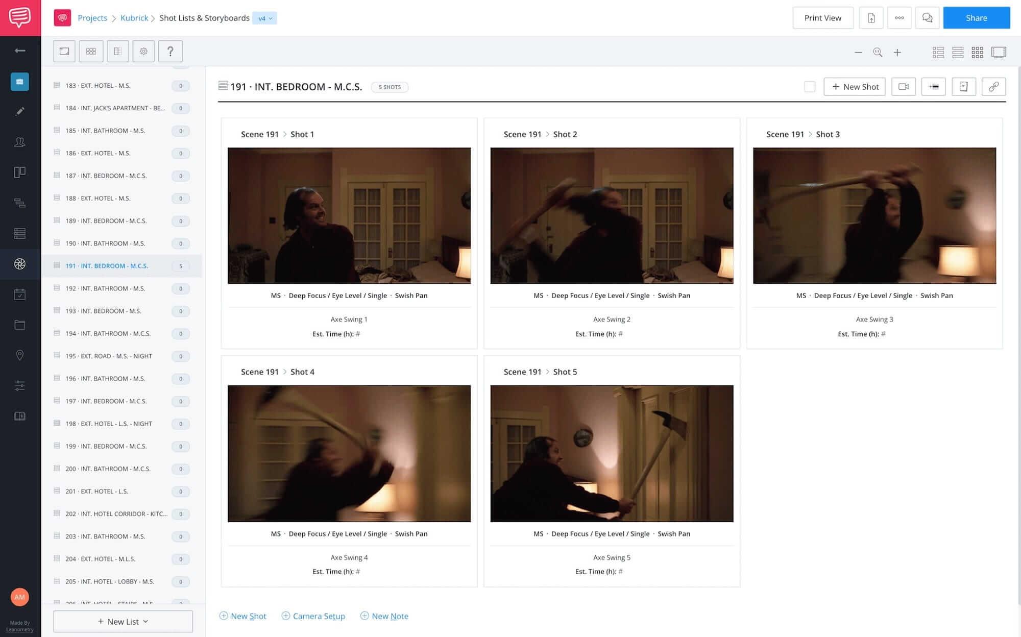 Best Stanley Kubrick Movies - The Shining - StudioBinder Online Shot List Software