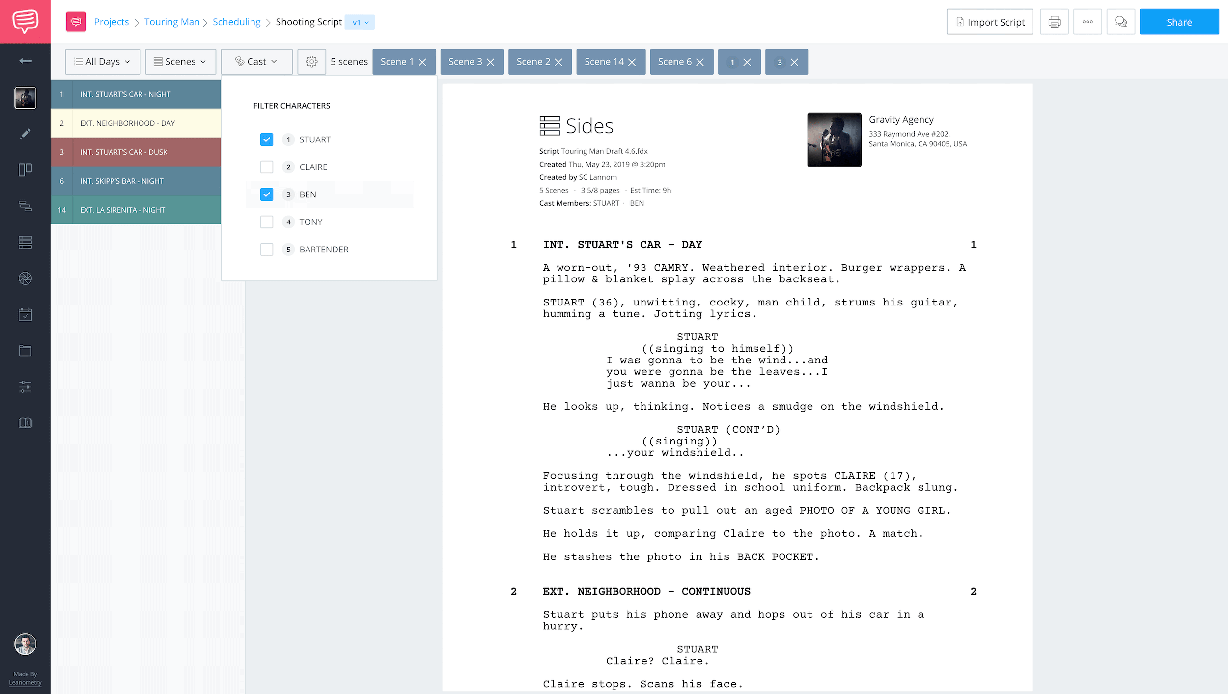 Free Script Sides Software - How to Create Script Sides for Actors and Characters - StudioBinder