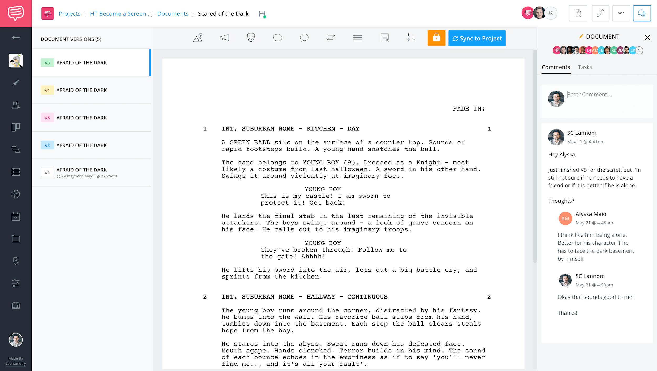 Free Scriptwriting Software for Filmmakers - Scriptwriting Software - Collaboration - StudioBinder