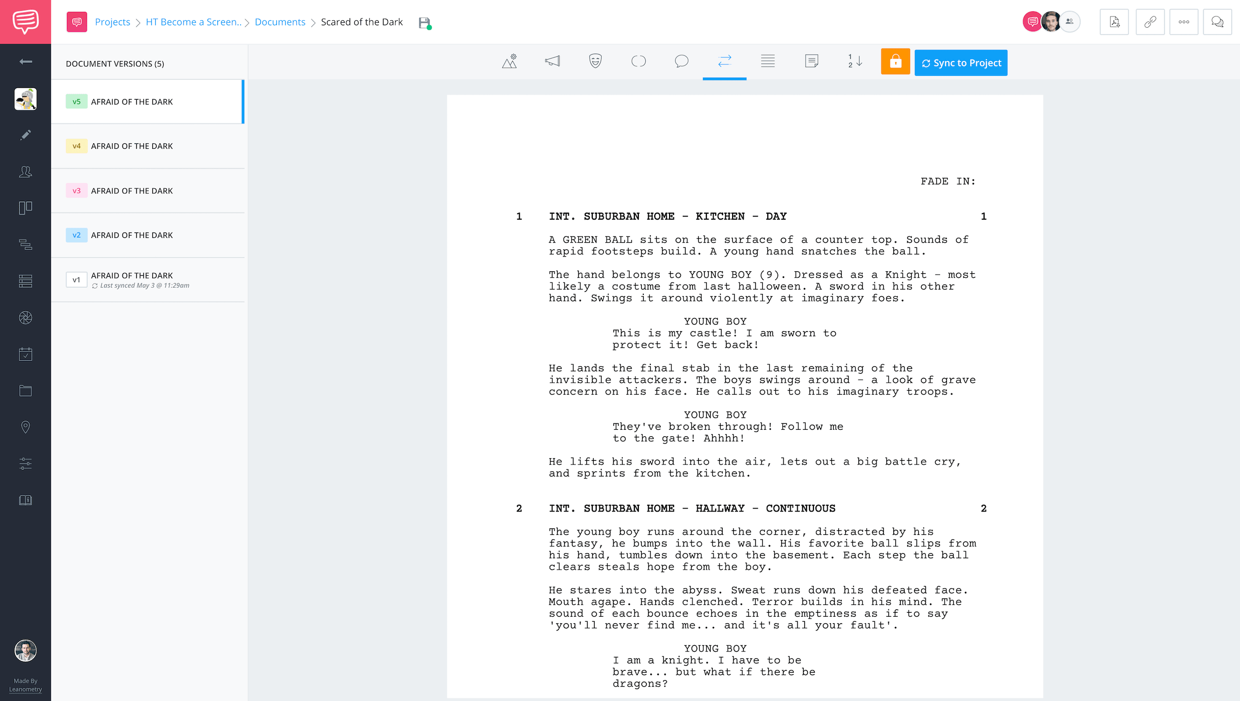 Free Scriptwriting Software for Filmmakers - Scriptwriting Software - Versioning - StudioBinder