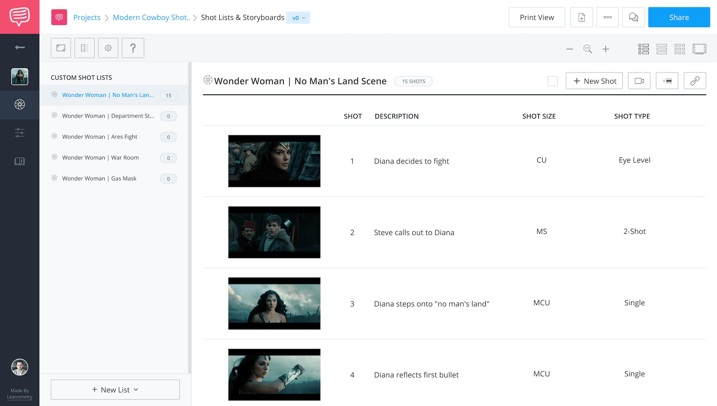 Free Shot List Software App and Shot List Template - StudioBinder