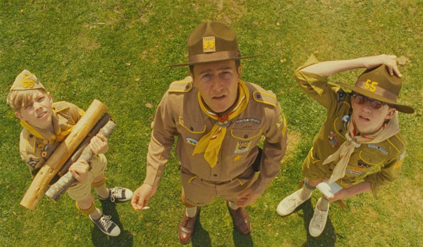 High Angle Shot - Moonrise Kingdom