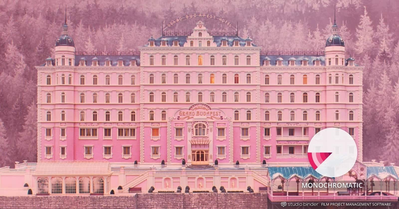 How to Use Color in Film Example - Movie Color Palette - Types of Color Schemes - Monochromatic Color Scheme - Grand Budapest Hotel