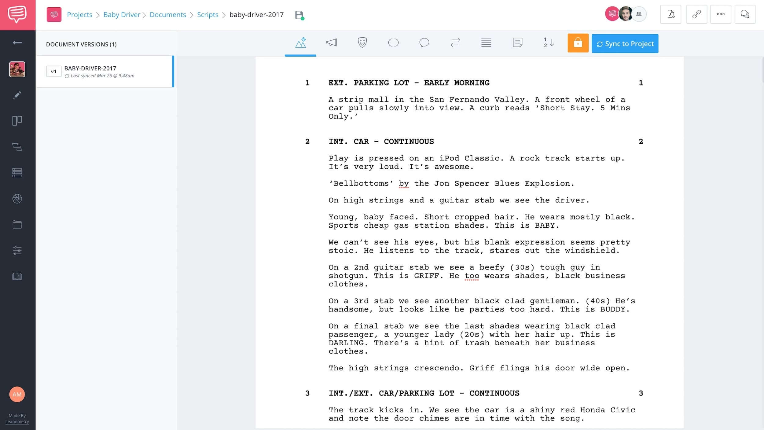 How to Write a Car Chase Scene - Baby Driver Script - StudioBinder Screenwriting Software