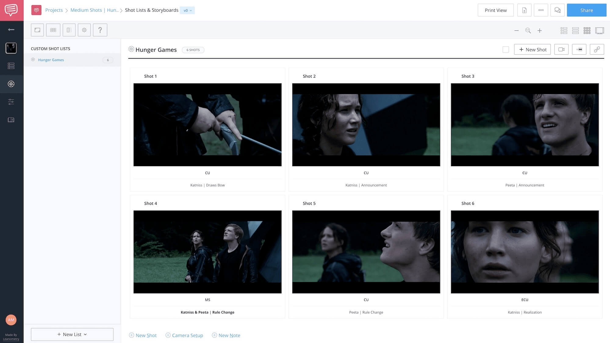 Medium Shot Examples - The Hunger Games - StudioBinder Online Shot Listing Software