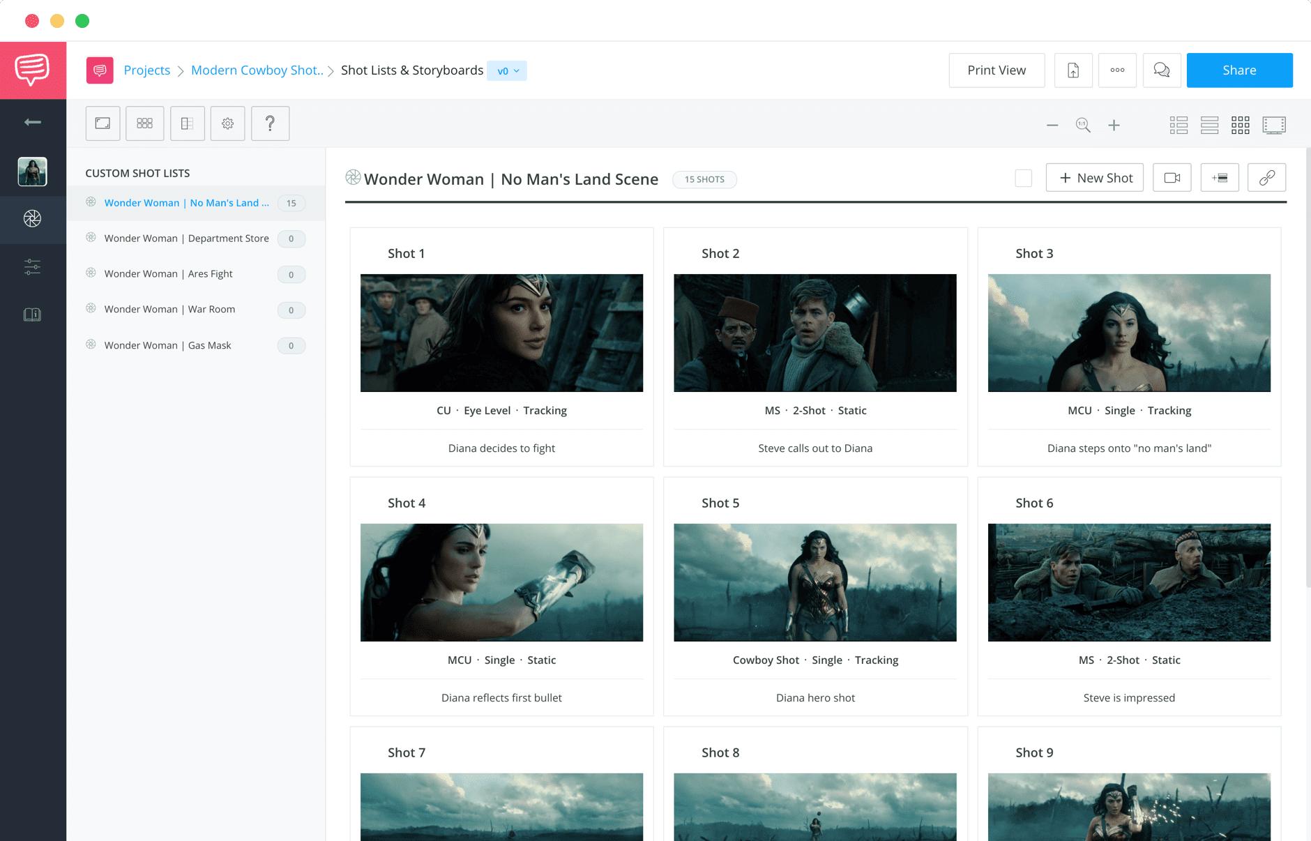 Shot Lister Pro App versus StudioBinder Free Shot List Software for Filmmakers