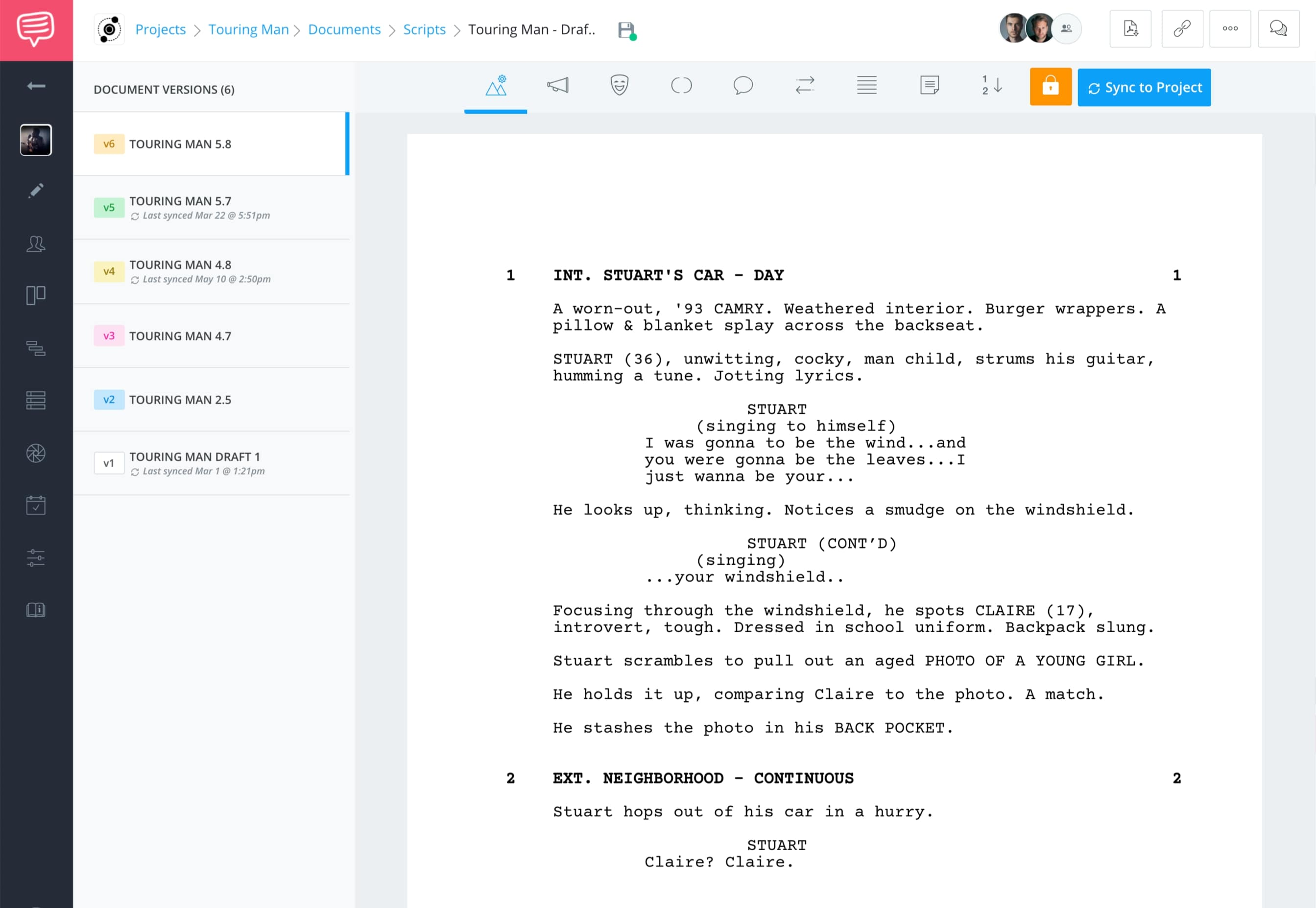 StudioBinder Free Screenwriting Software for Filmmaking