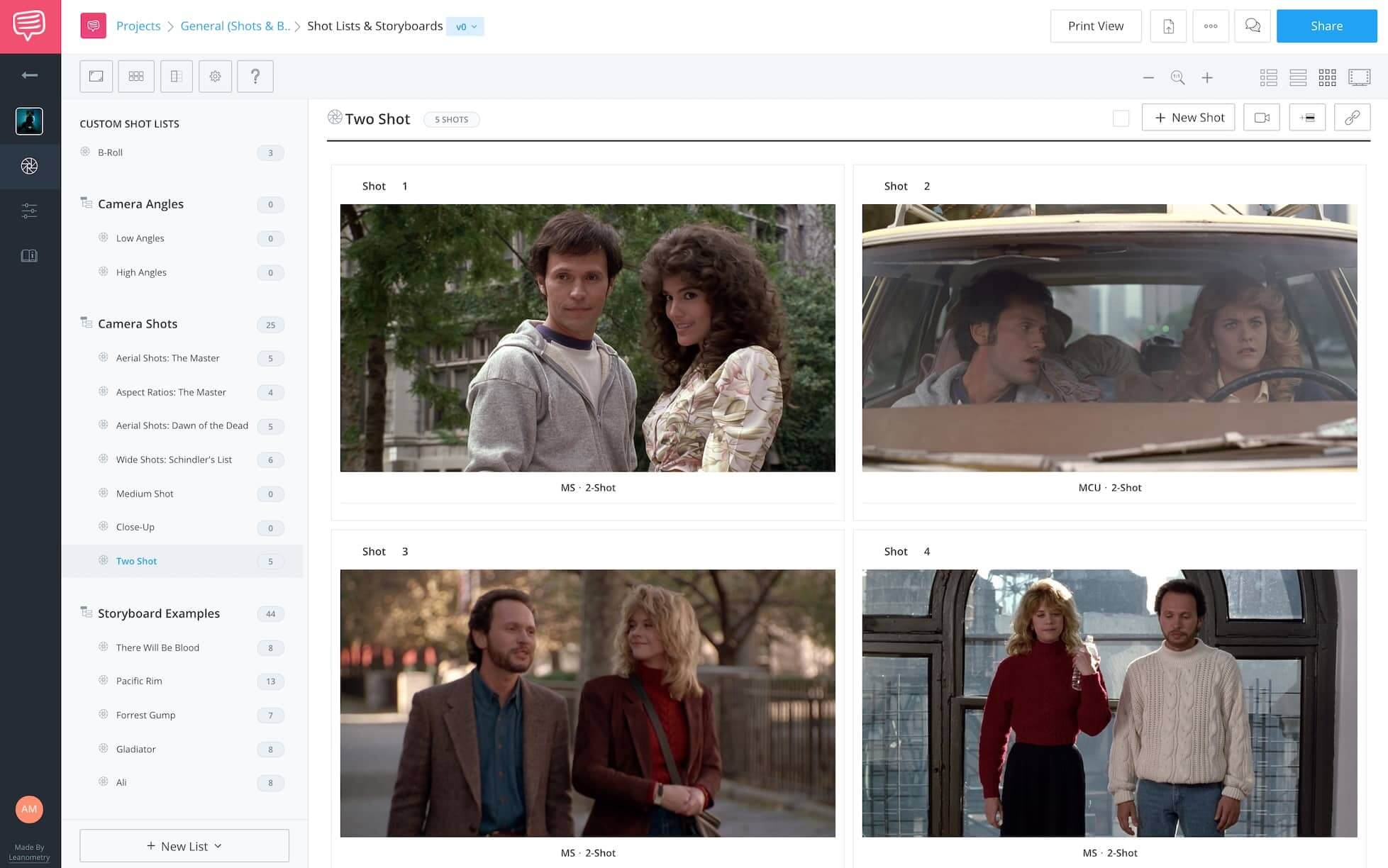 The Two Shot - When Harry Met Sally Two Shot Examples - StudioBinder Online Shot List Software