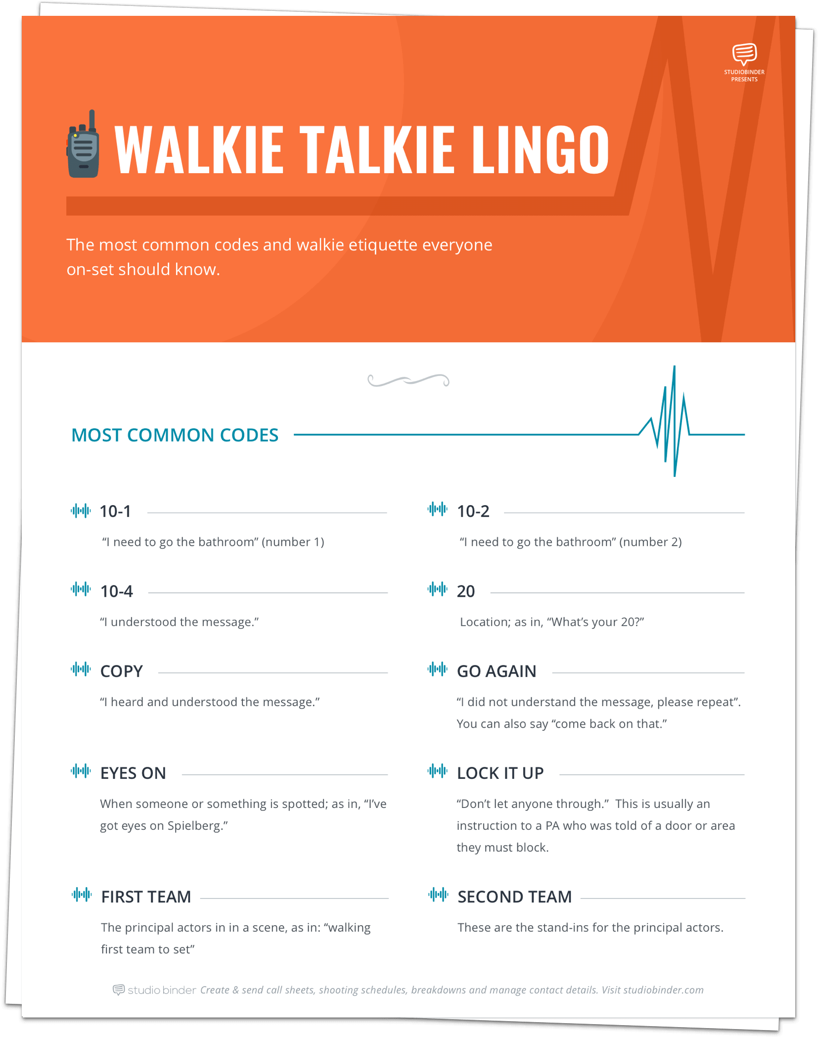 Walkie Talkie Lingo - Stacked Free - StudioBinder