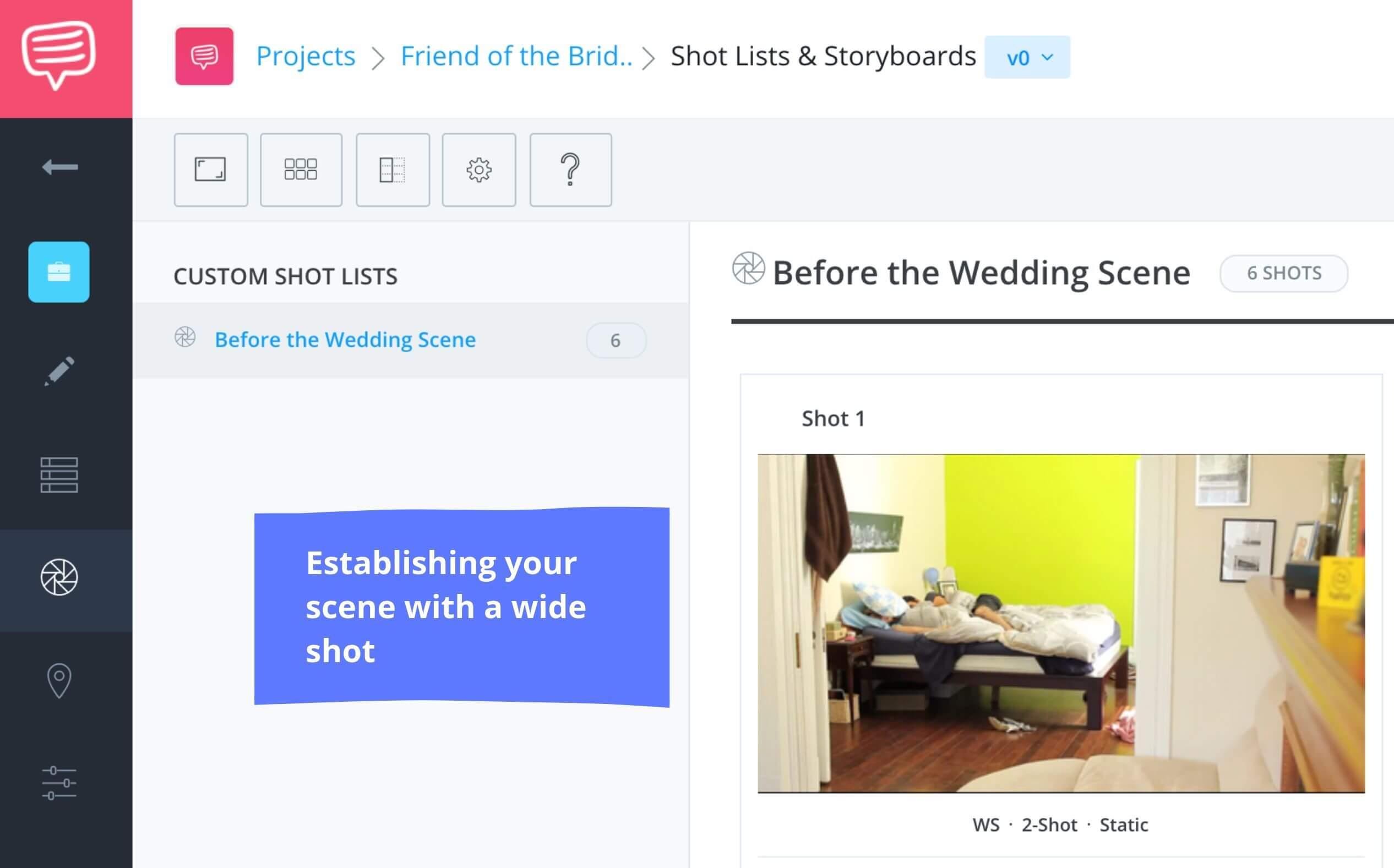 What's in Your Shot List - Establishing Wide Shot - StudioBinder Online Shot List Software