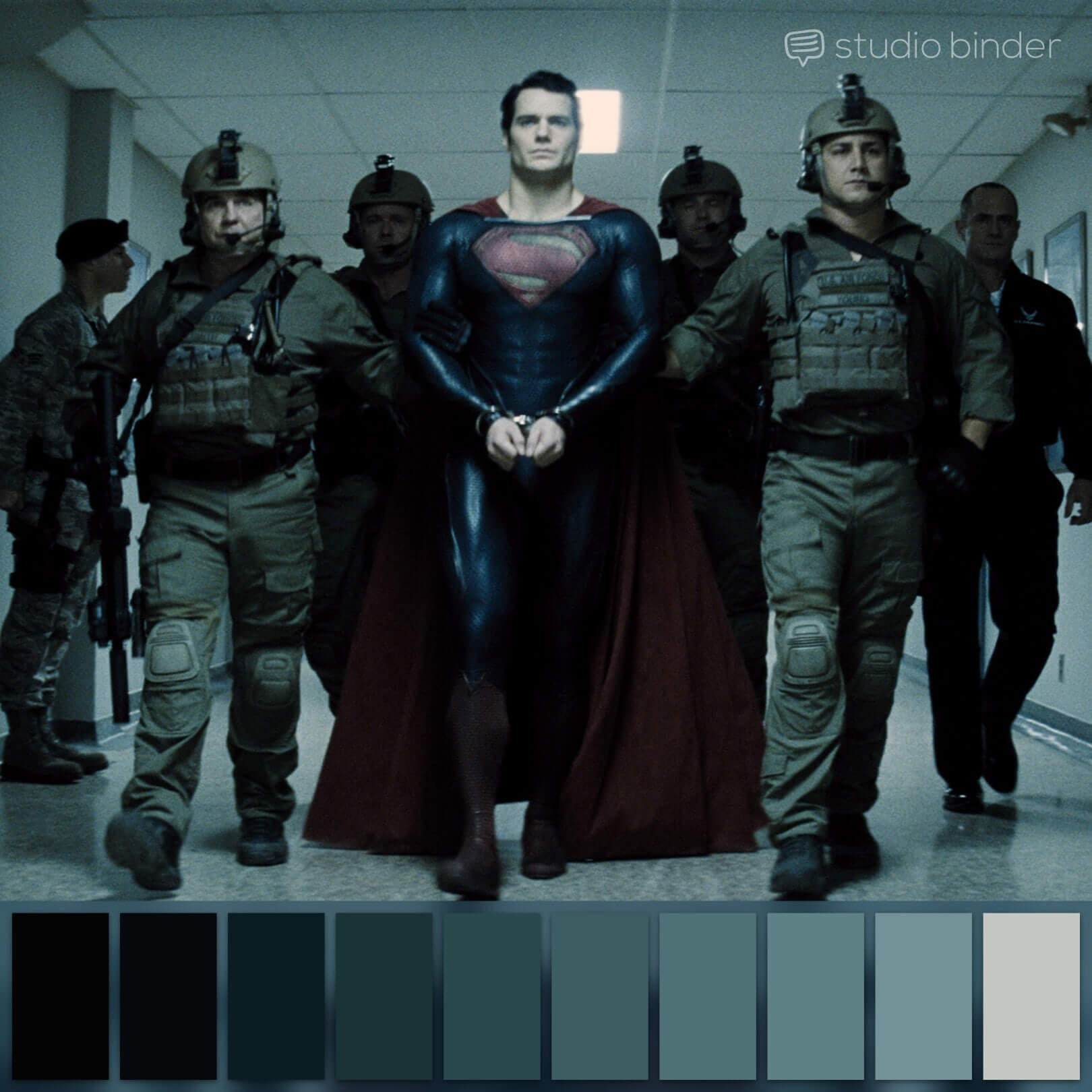 Zack Snyder Color Palette Man of Steel