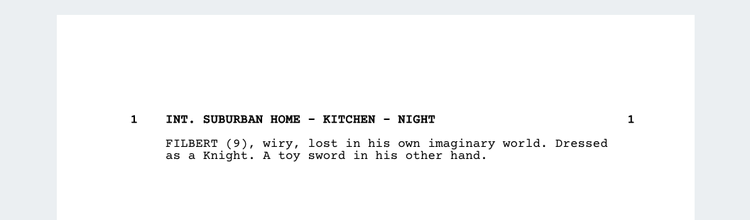 screenwriting - studiobinder - double hyphen scene heading