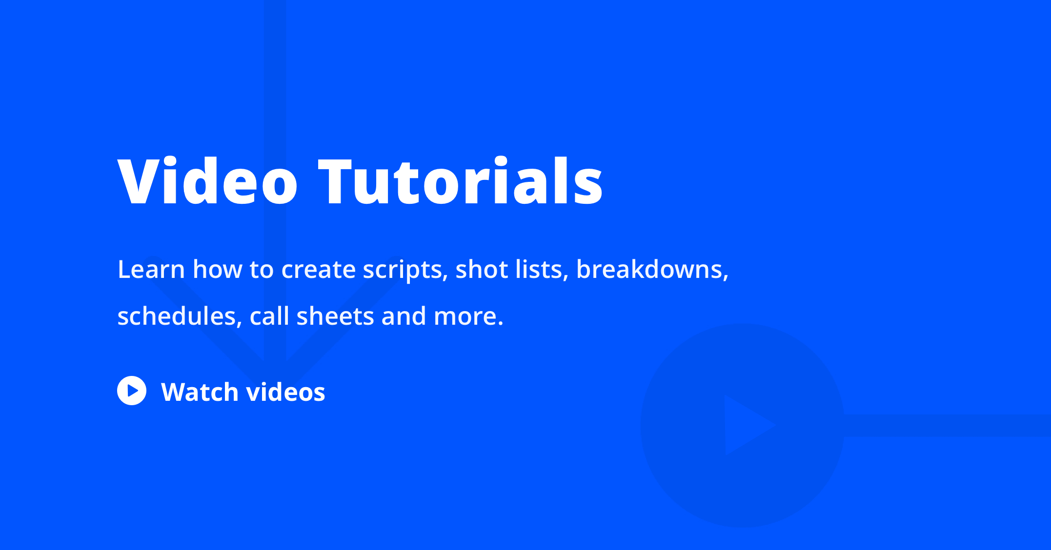 Blog Index - Product - StudioBinder Video Tutorials