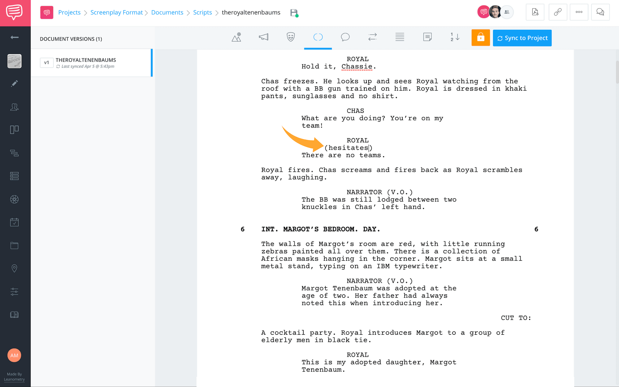 Formatting a Screenplay - Screenplay Format - Parentheses - StudioBinder Screenwriting Software