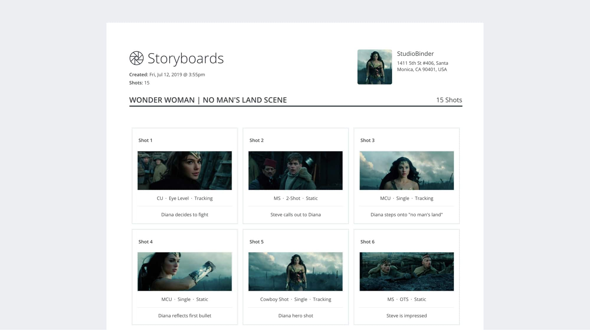Free Storyboard Creator App - Print and Share Storyboard - StudioBinder Storyboard Software