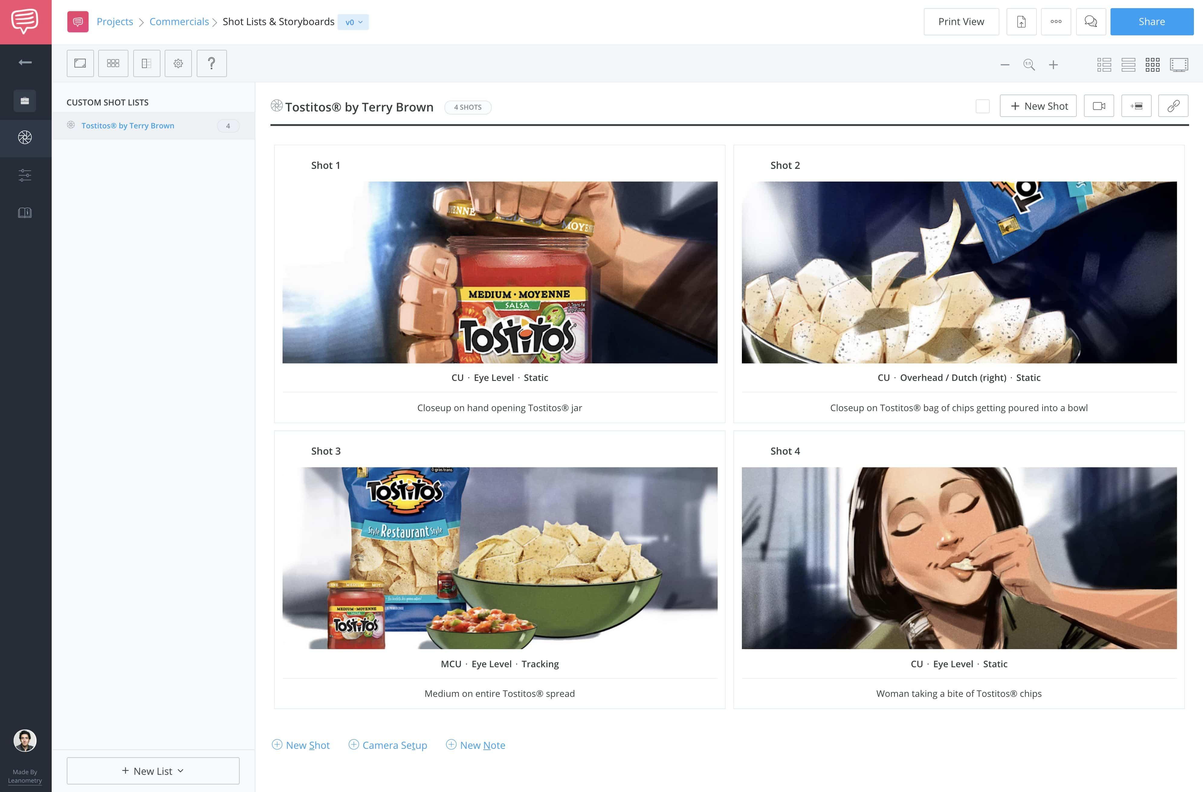 Storyboard Creator - Free TV Commercial Storyboard - StudioBinder Storyboard Maker