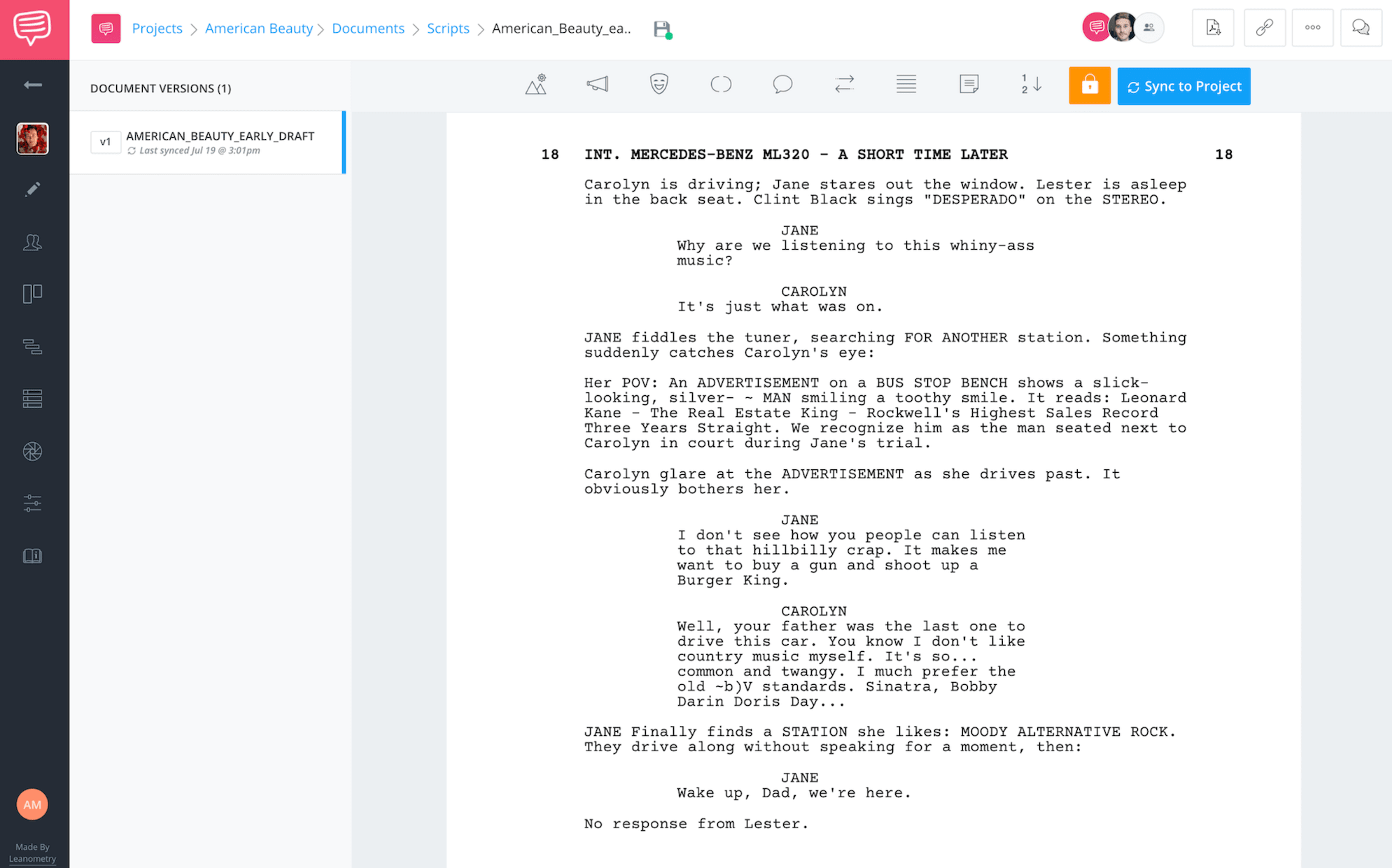 What Does a Screenwriter Do - Screenplay Example - American Beauty - StudioBinder Screenwriting Software