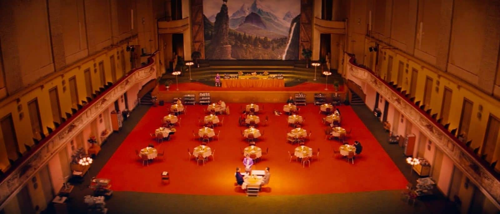 Establishing Shot - Grand Budapest Hotel - Dinner Scene