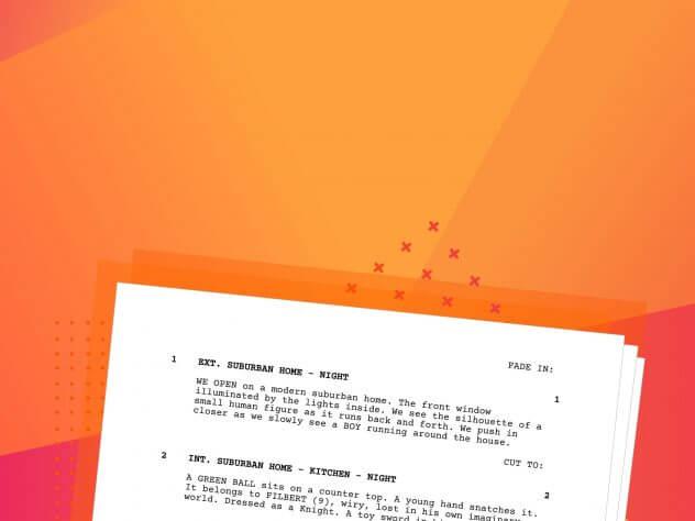How to Format a Screenplay - Movie Script Screenplay Format Template - Script Writing Format Explained - Heading - StudioBinder-min