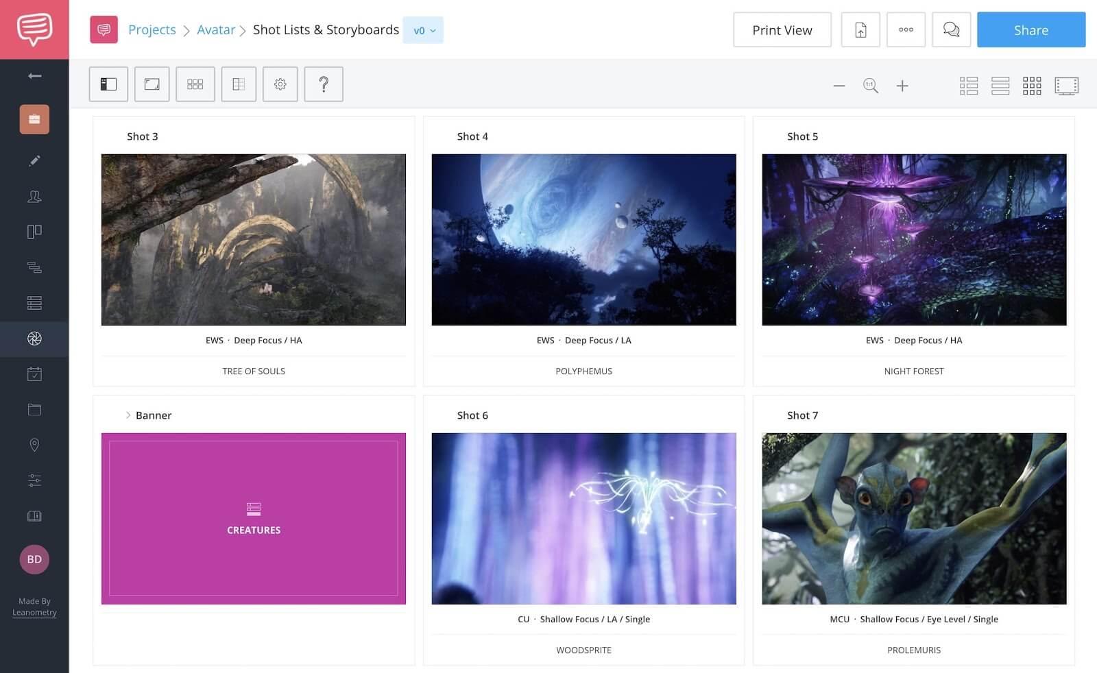 James Cameron Movies - Avatar World Building - StudioBinder Online Shot List Software