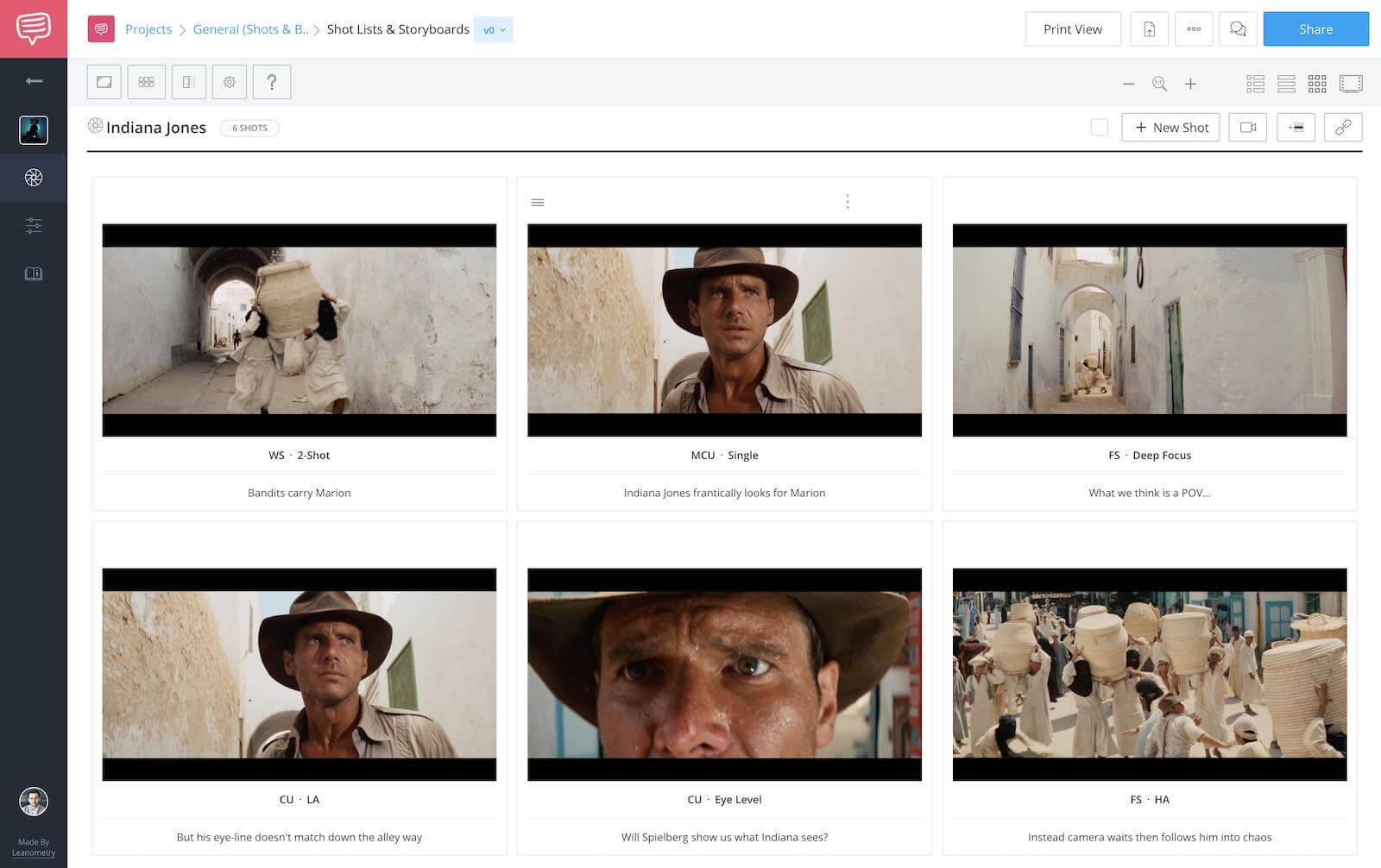 Raiders of the Lost Ark - Spielberg Filmmaking Style - StudioBinder Shot List