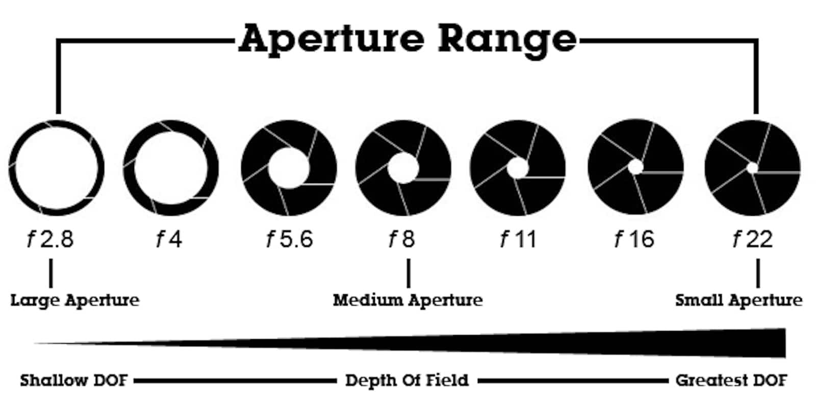 What is Depth of Field - Aperture - Graphic