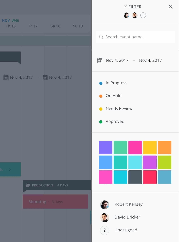 What is a Gantt Chart - Production Calendar - Filtering - StudioBinder