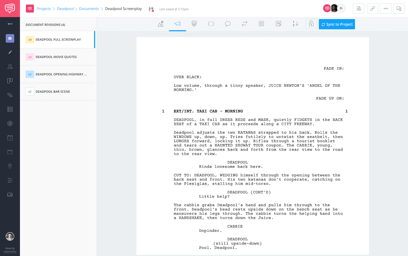Deadpool script teardown - full screenplay featured image - StudioBinder
